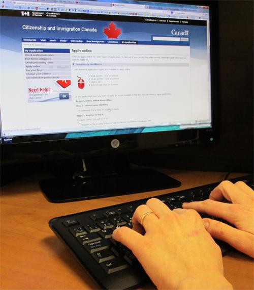 La solicitud de visa en línea -