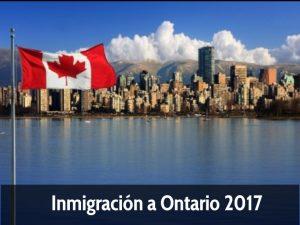 Inmigración a Ontario 2017 -