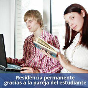 Residencia gracias a la pareja del estudiante -