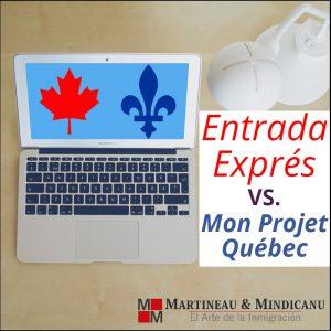 Entrada Exprés vs. Mon Projet Québec -