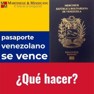 Pasaporte Venezolano se vence: ¿qué hacer? -