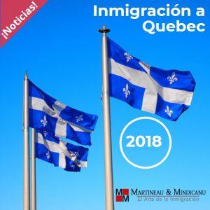 Noticias – Inmigración a Quebec 2018 -