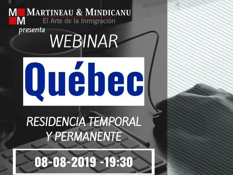 Webinar: Quebec - Residencia temporal y permanente -