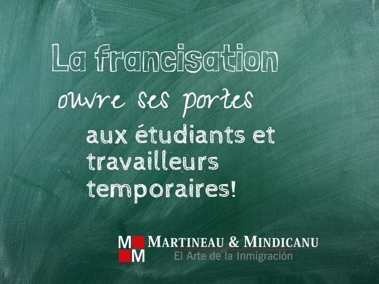 Quebec abre cursos de francés para más personas -