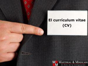Búsqueda de empleo: el currículum vitae (CV) -