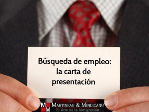 Búsqueda de empleo: la carta depresentación -
